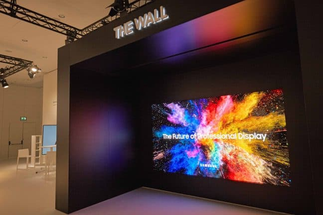 Samsung toont 146-inch modulair MicroLED display The Wall Professional