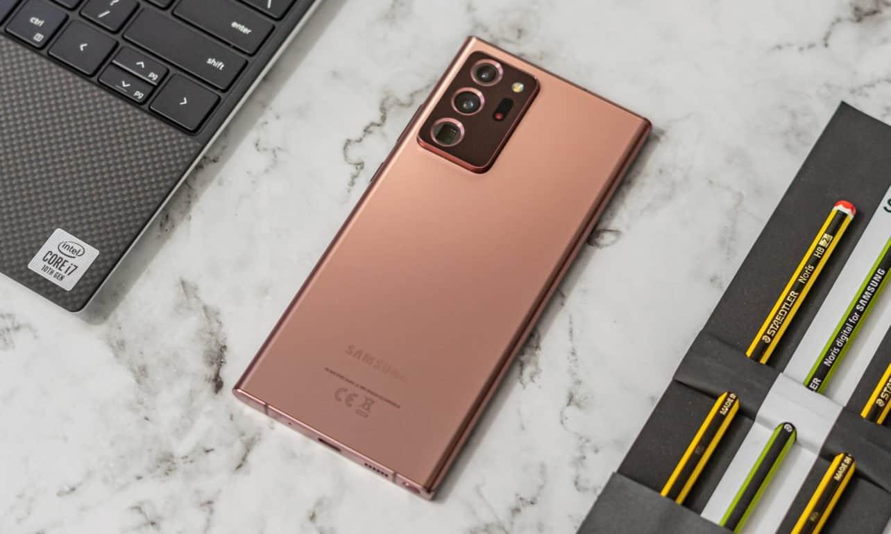 Samsung Galaxy Note 20 Ultra achterkant