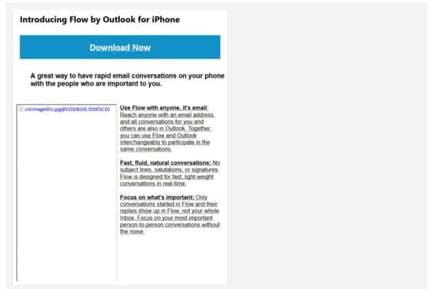 'Microsoft bezig met chatapplicatie Flow voor de Outlook iPhone-app'