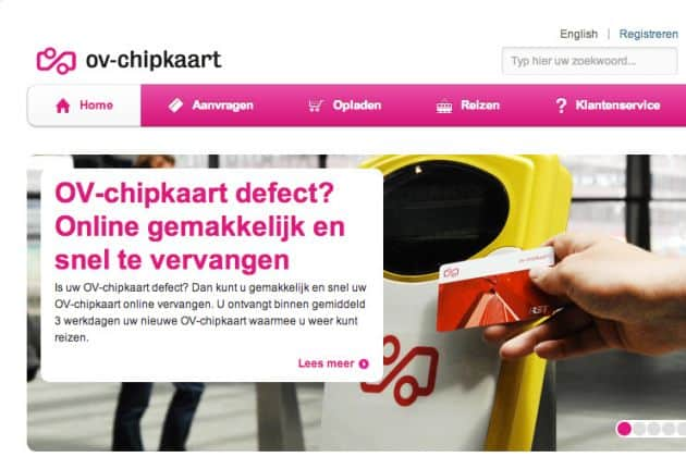 Website van OV-chipkaart onveilig door bug