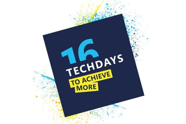Techzine is mediapartner van het Microsoft TechDays evenement